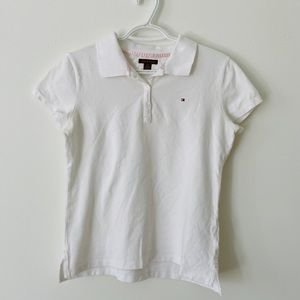 TOMMY HILFIGER plain white short sleeves top